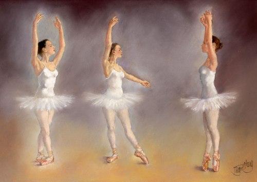 Studies of a ballet dancer