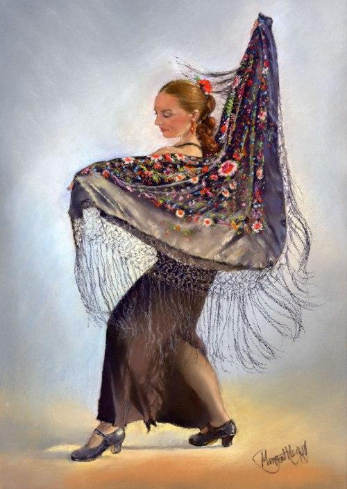 Flamenco Dancer with Shawl