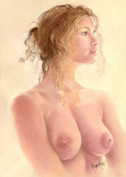 My first nude in pastel