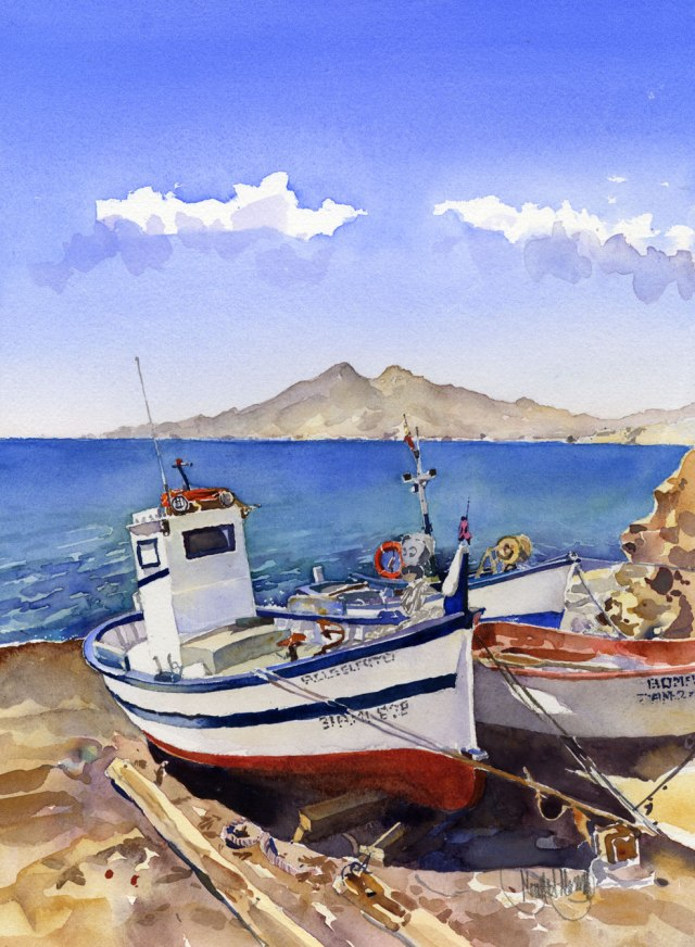 You can buy this watercolouer of La Isleta for just €90
