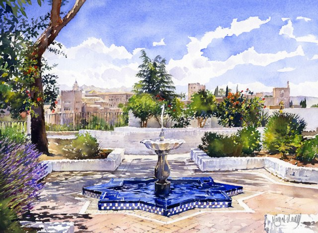 The Alhambra from the Mezquita in Summer